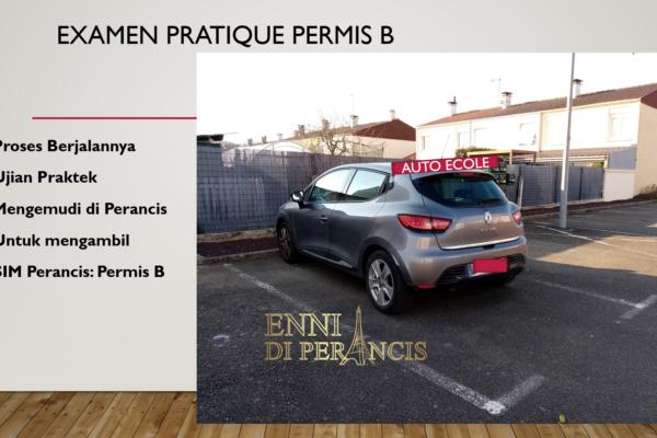 Examen Pratique Permis B: Jalannya Ujian Praktek Mengemudi di Perancis