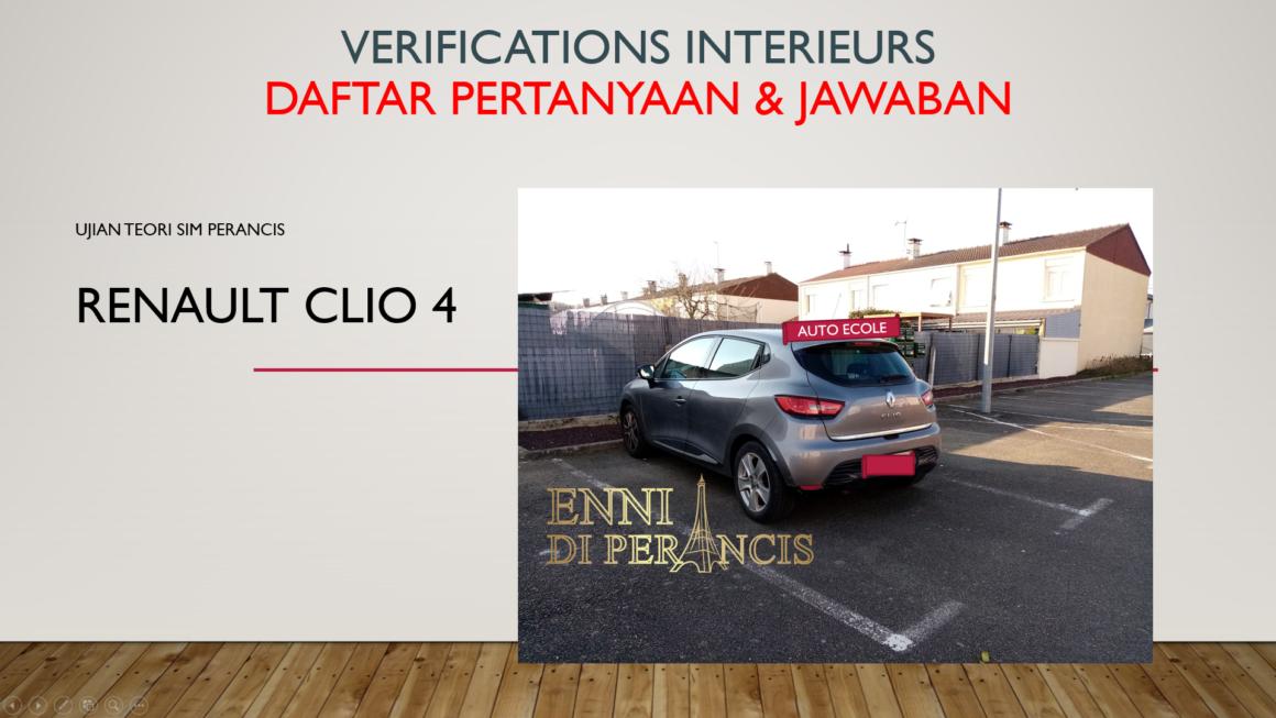 Intérrogation Orale -Vérification Intérieur: Daftar Pertanyaan dan Jawaban Ujian SIM Perancis